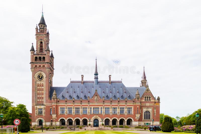 The international peace palace in The Hague, The Netherlands stock images