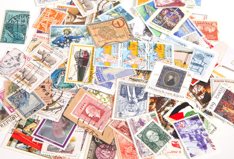 International postage stamps royalty free stock images