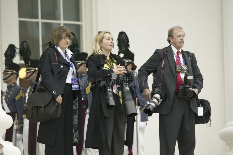 International press corps royalty free stock photography