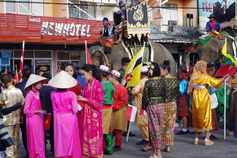 International procession stock photography
