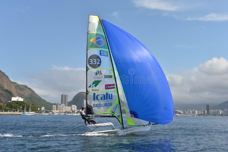 Sailing Regatta. International Sailing Regatta 2015, preparative event for the 2016 Olympics royalty free stock photos