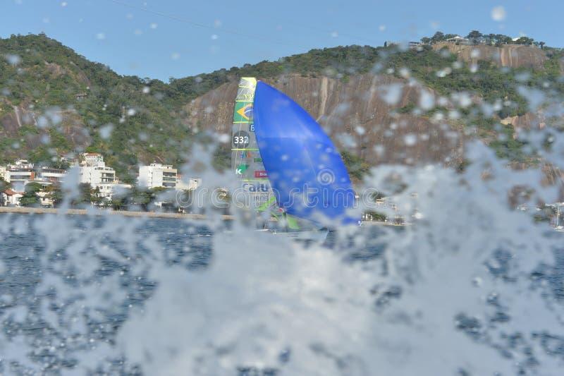 Sailing Regatta. International Sailing Regatta 2015, preparative event for the 2016 Olympics stock photography