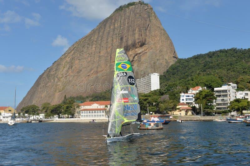 Sailing Regatta. International Sailing Regatta 2015, preparative event for the 2016 Olympics stock photo