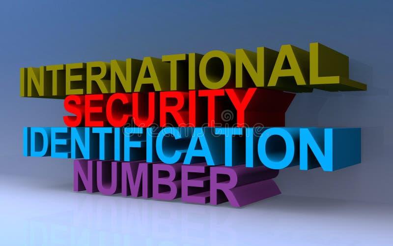 International security identification number. On blue vector illustration