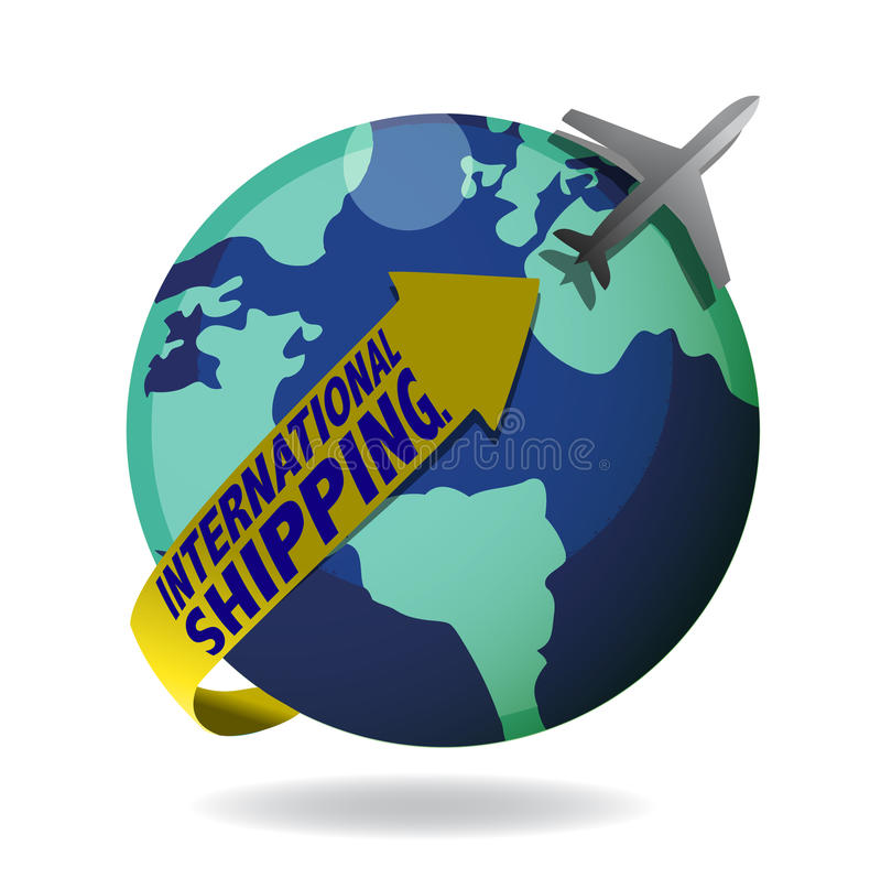 Download International shipping stock vector. Image of editable - 18273370