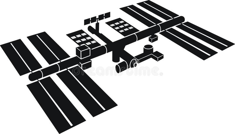 International space station vector illustration