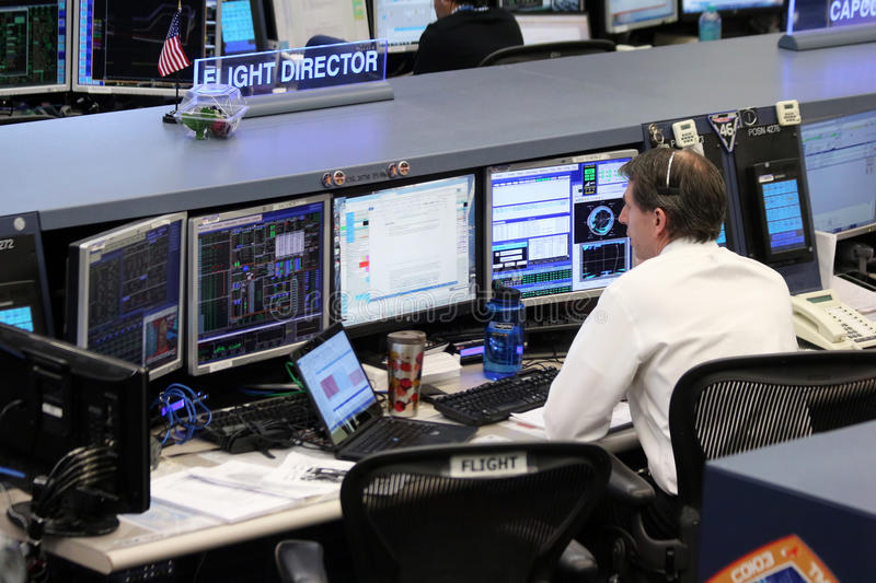 International Space Station Mission Control Center. The mission control center for the International Space Station is located at Johnson Space Center in Houston stock photos