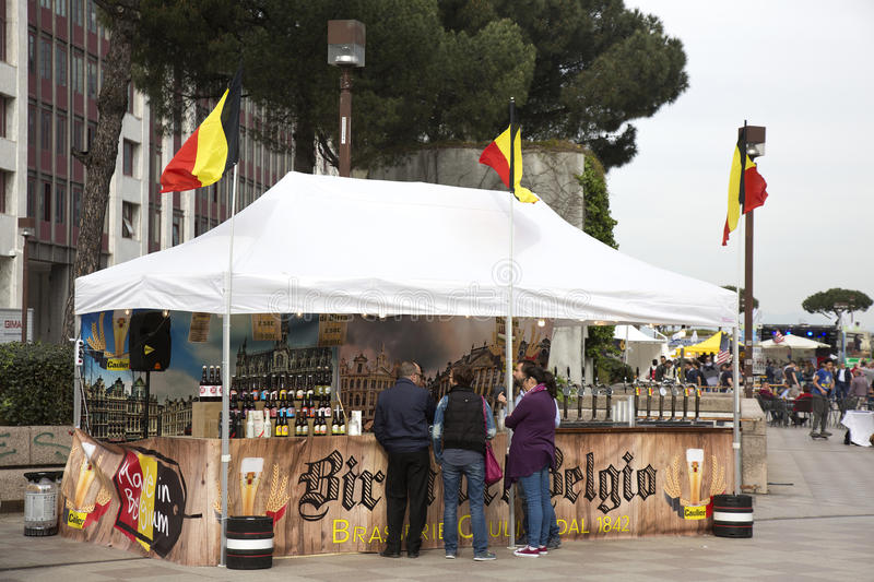 International Street food festival is one of the most popular food festivales in recent years in Naples. There are lot of stands stock photos