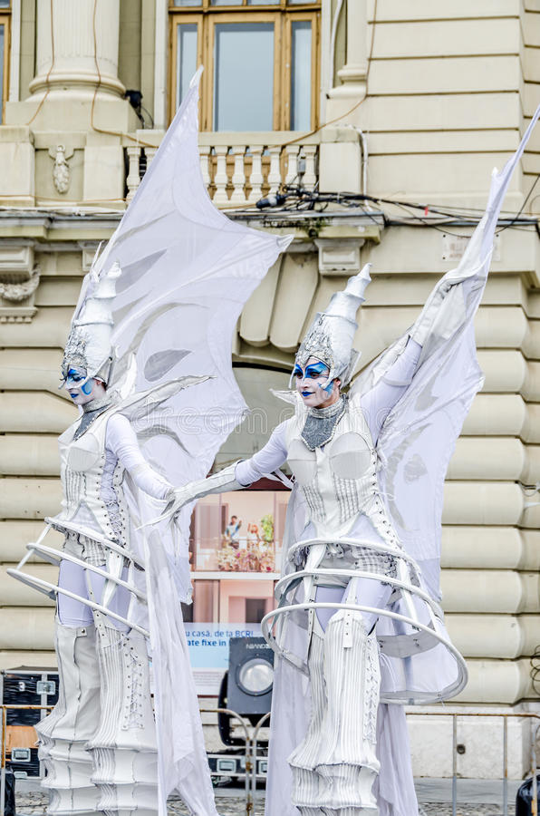 International Street Theatre Company royalty free stock photos