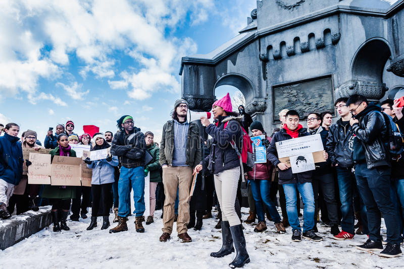 International Student Protest - RPI - Troy, New York royalty free stock image
