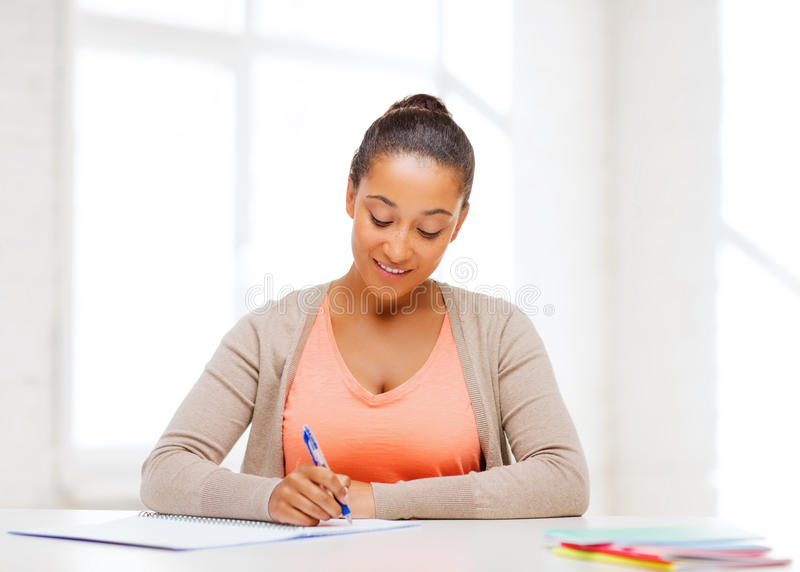 International Student Studying In College Stock Photo