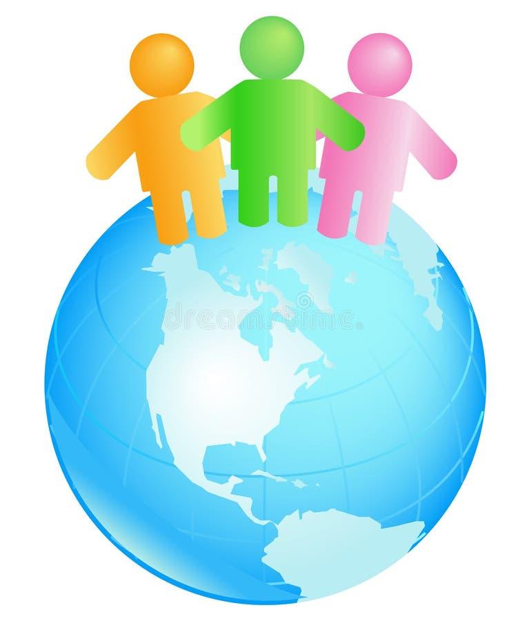 International teamwork royalty free stock image