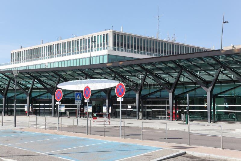 International terminal 1 at Saint Exupery airport in Lyon, France. Lyon, France - July 16, 2018: International terminal 1 at Saint Exupery airport in Lyon royalty free stock image
