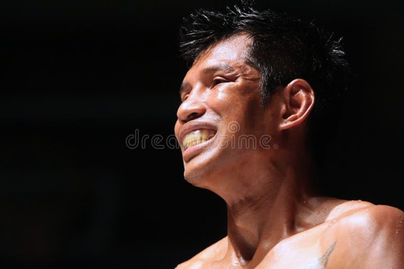 International Thai Boxe, K1, Muay Thai - Kaoponlek stock photography