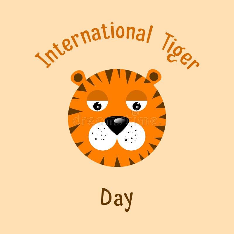 International Tiger Day royalty free illustration