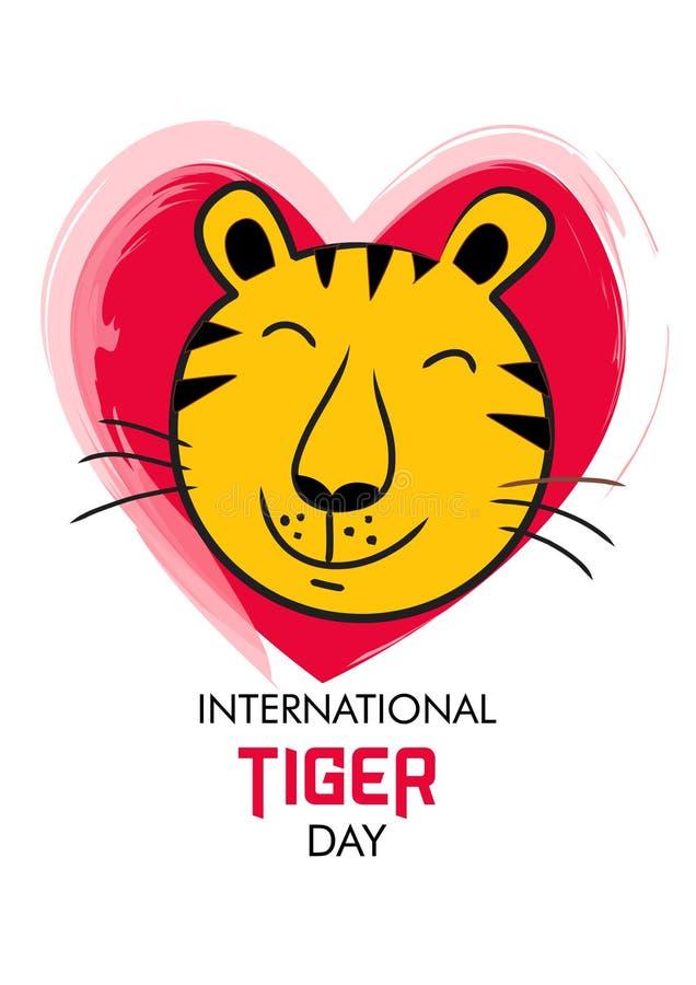 International Tiger day stock illustration