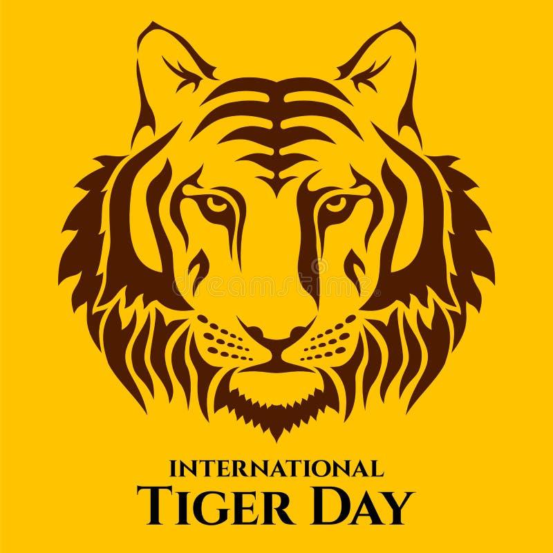 International Tiger day. stock illustration
