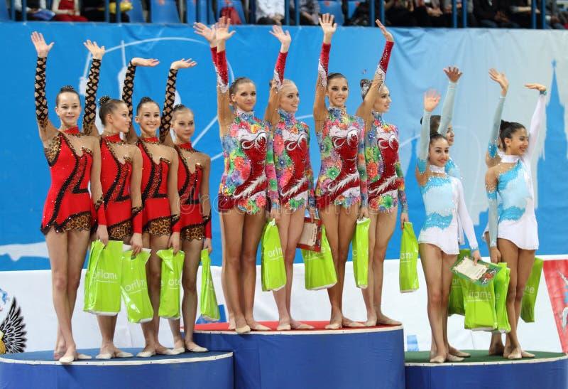 International Tournament in Rhythmic Gymnastics stock images