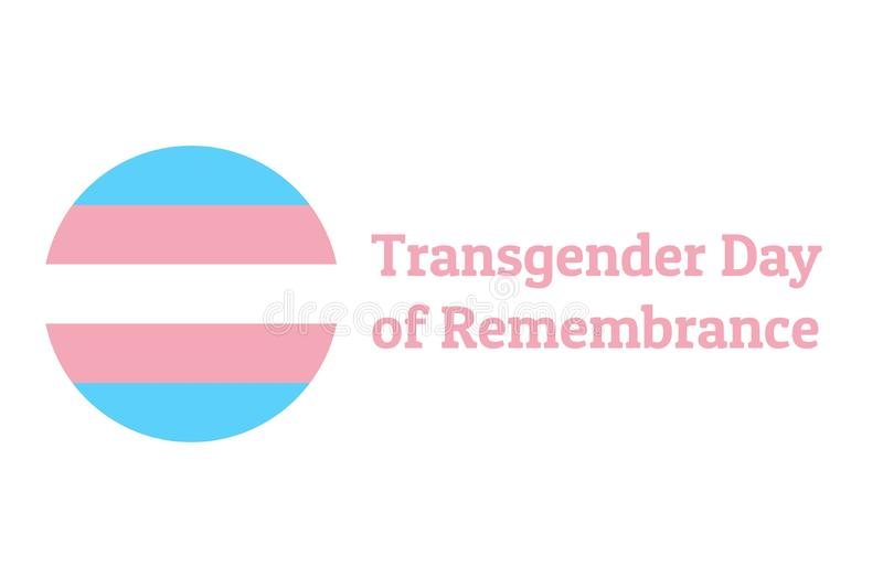 International Transgender Day of Remembrance, has been observed annually on November 20. Background template with royalty free illustration
