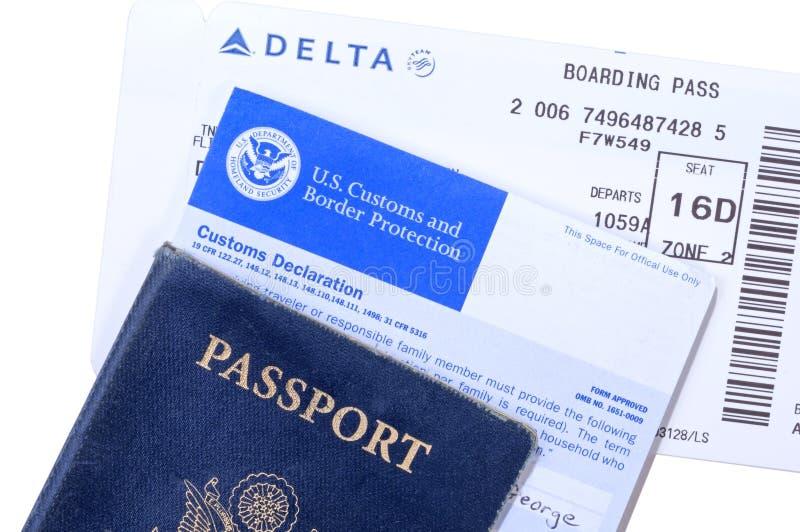 International travel documents stock images