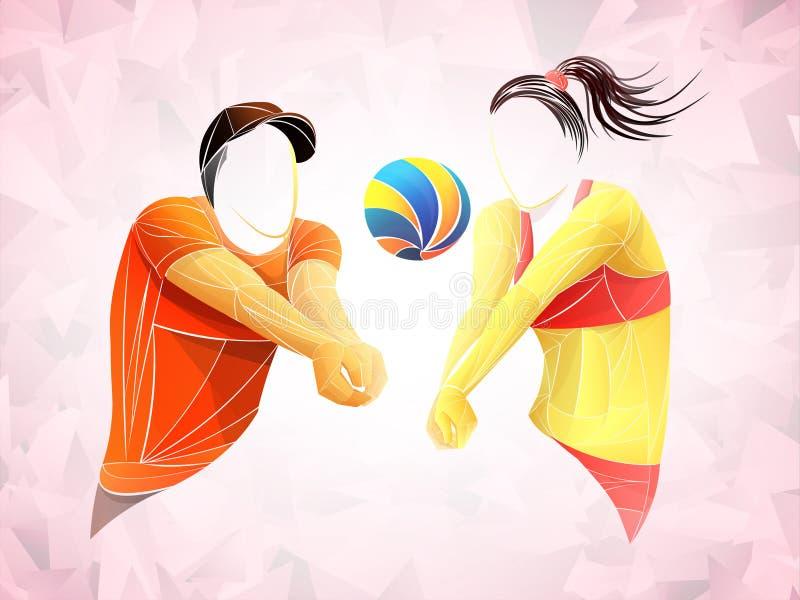 International volleyball, volleyball live, play volleyball, women volleyball, volleyball player vector illustration