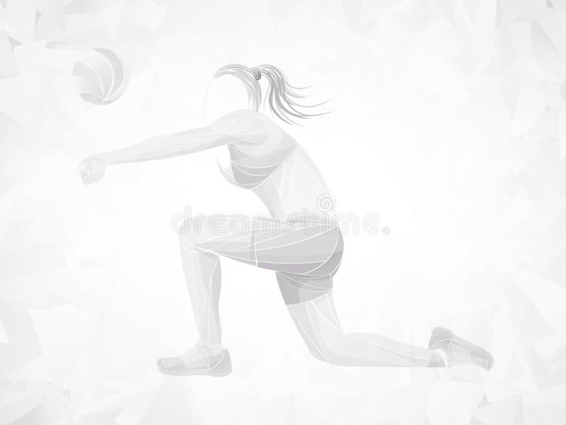 International volleyball, volleyball live, play volleyball, women volleyball, volleyball player royalty free illustration
