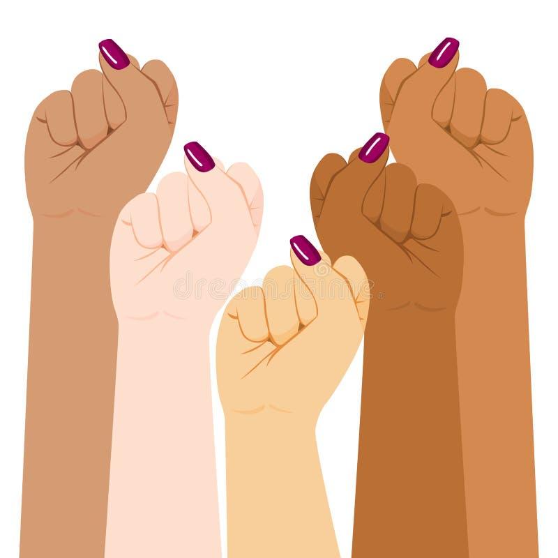 International Woman Diversity Fist royalty free illustration