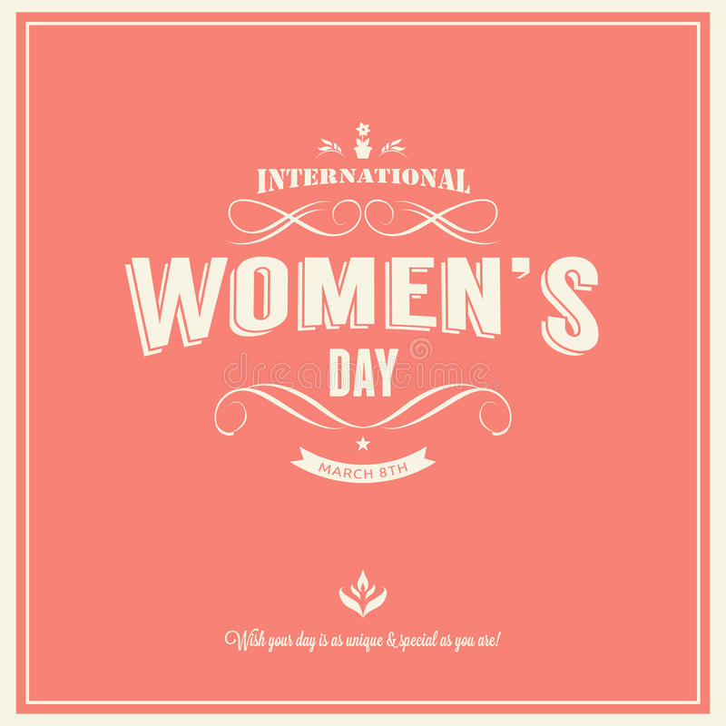 International womans day-March 8th royalty free stock image