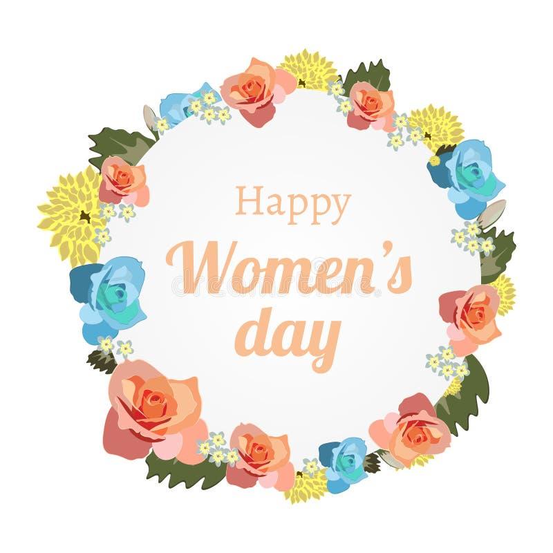 International Women s Day banner with banner stock illustration