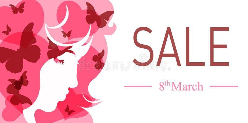International women's day banner. royalty free stock image