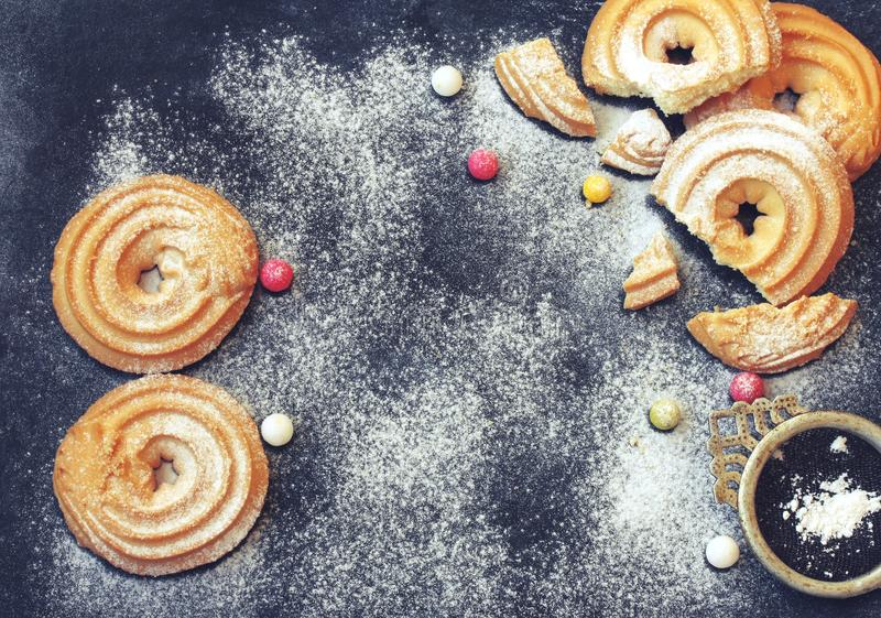 International Women`s Day, homemade cookies royalty free stock photos