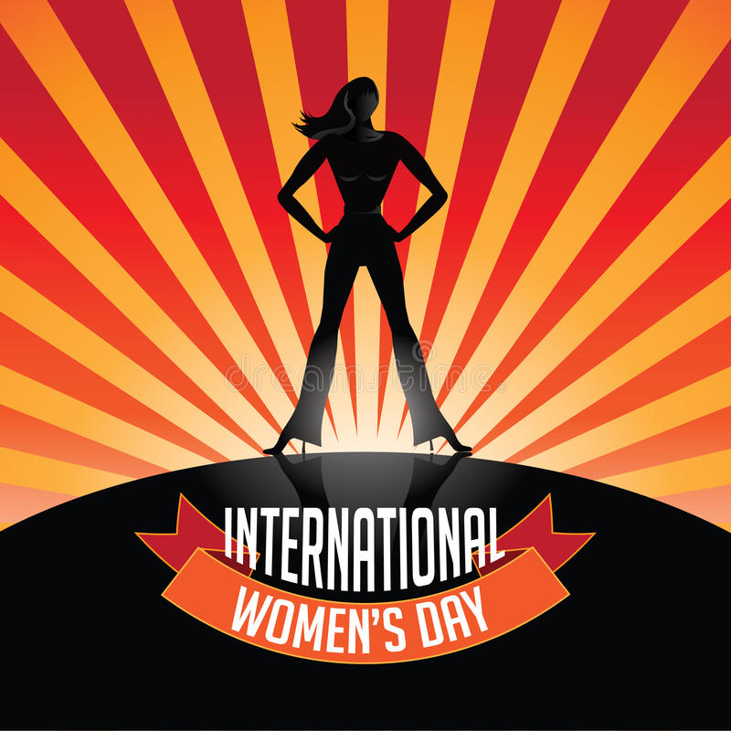 International Womens Day burst vector illustration