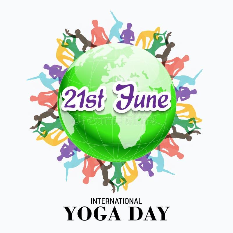 International Yoga Day Stock Illustration Illustration Of Position 73039634