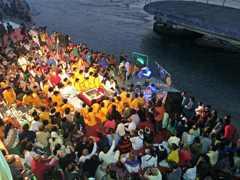 International Yoga Festival Parmarth Niketan royalty free stock image