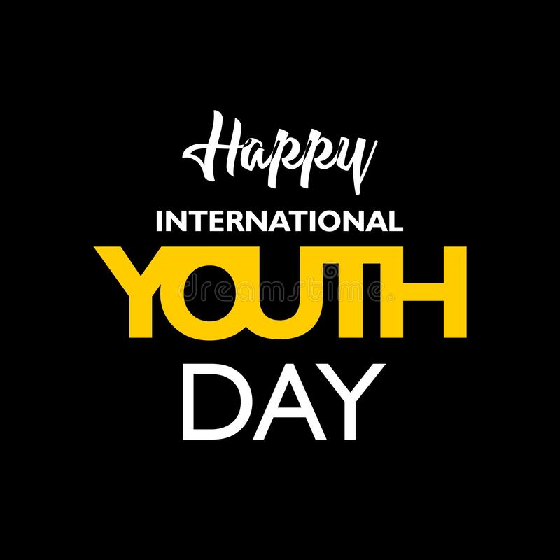 International youth day, 12 August, royalty free illustration