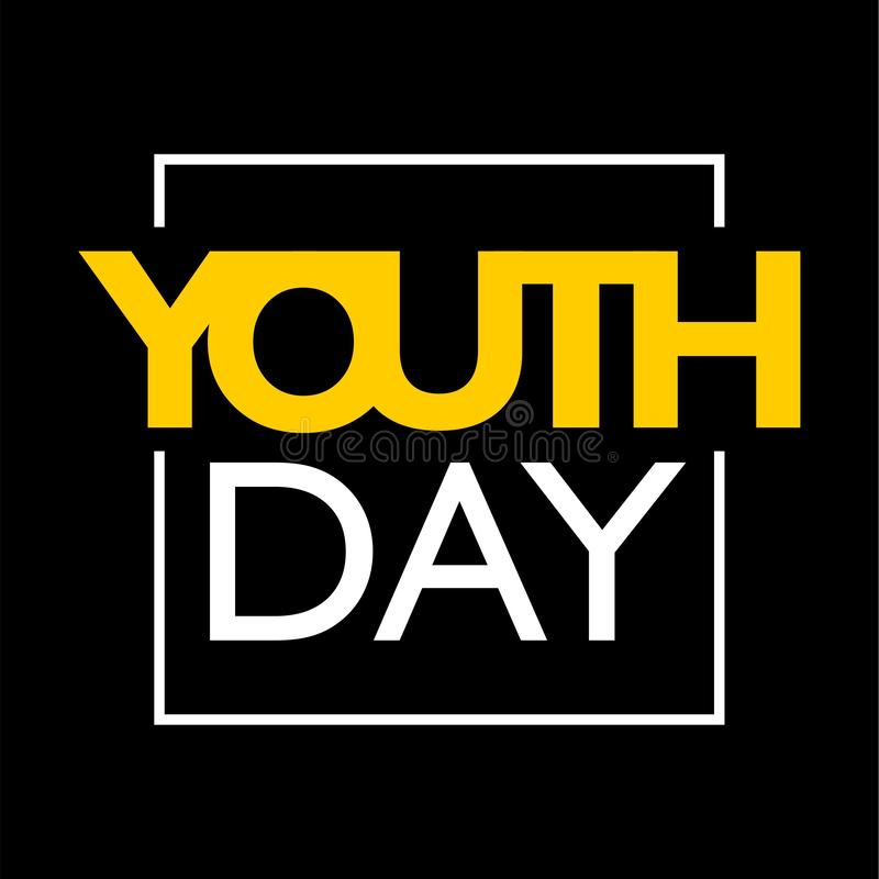 International youth day, 12 August, quotes royalty free illustration