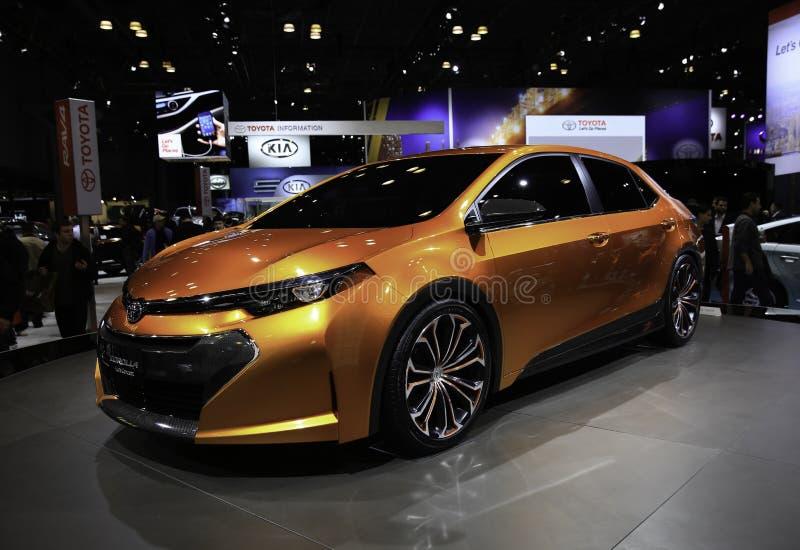 2014 het Concept van Toyota Corolla Furia dat bij wordt gedemonstreerd royalty-vrije stock afbeelding
