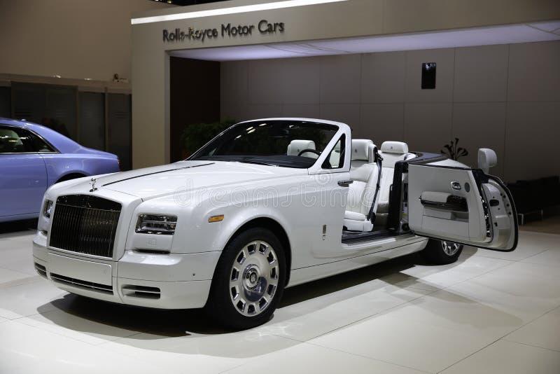 Rolls-Royce demonstreerde in New York Auto toont stock fotografie