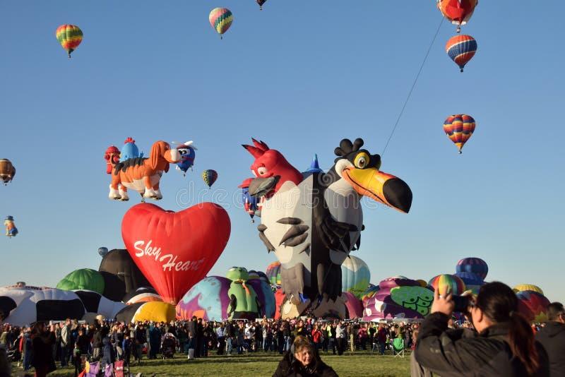 Internationale Ballonfiesta 2016 in Albuquerque royalty-vrije stock fotografie