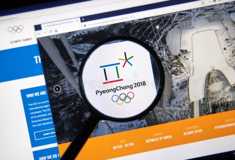 Internationale Beamtwebseite des Olympischen Komitees lizenzfreie stockbilder