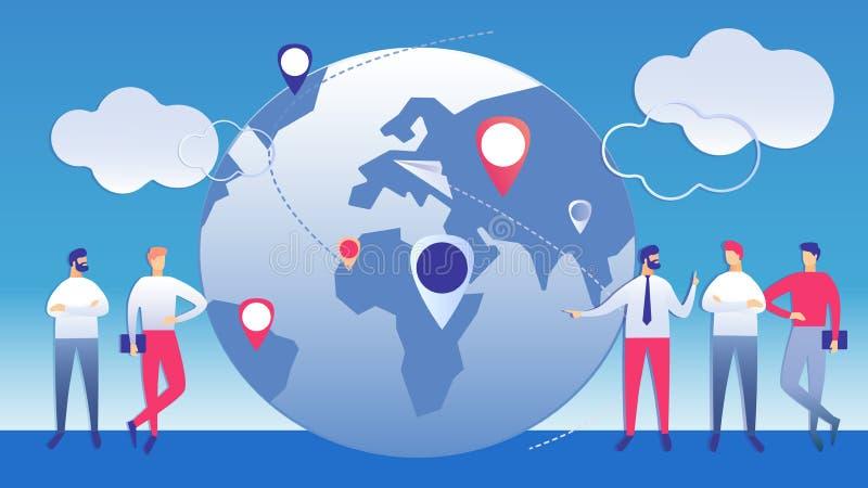 Internationale Beheers Bedrijfsillustratie stock illustratie