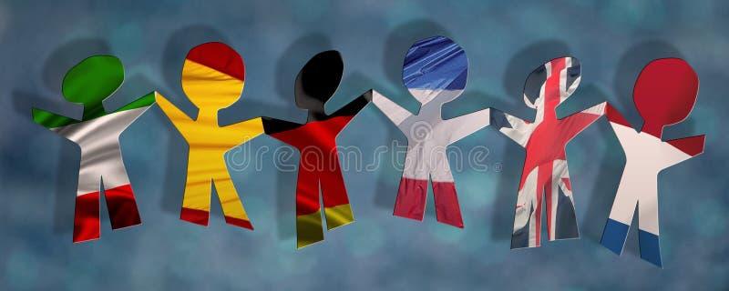 Internationale bijeenkomst stock illustratie