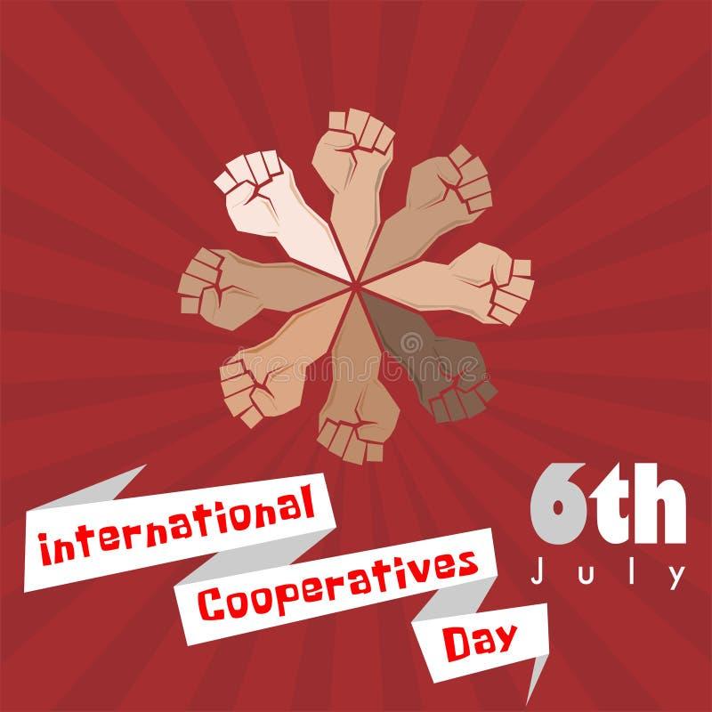 Internationale Coöperatieve verenigingendag royalty-vrije illustratie