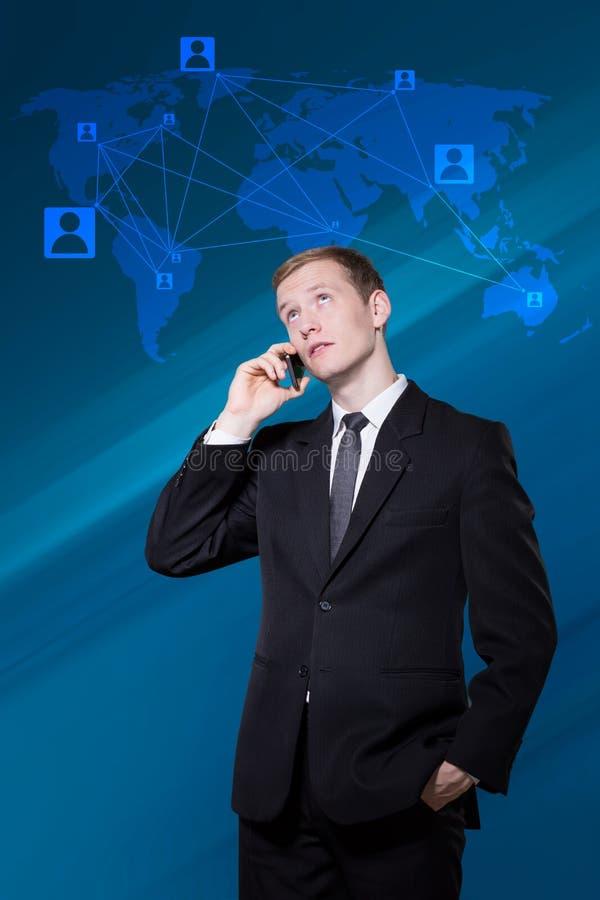 Internationale conferentie over de telefoon royalty-vrije stock fotografie
