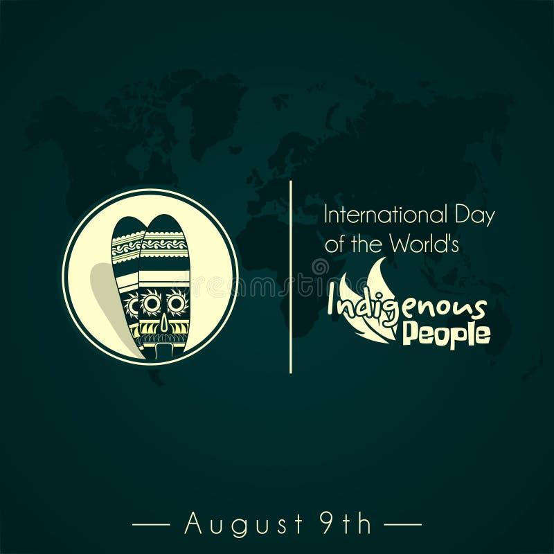 Internationale Dag van de Inheemse Mensen van de Wereld royalty-vrije illustratie