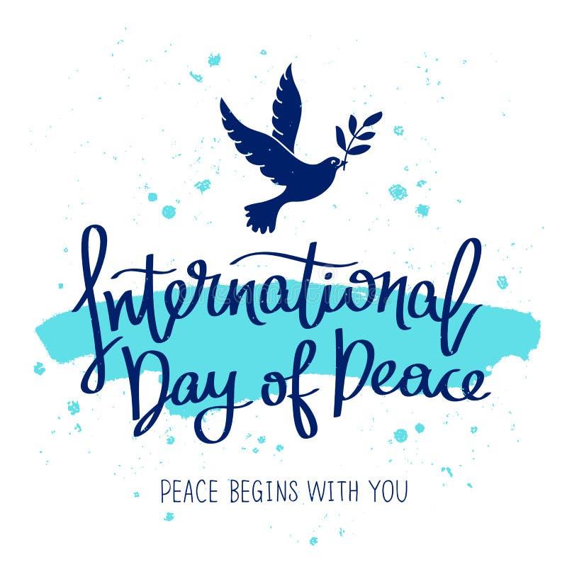 Internationale Dag van Vrede vector illustratie