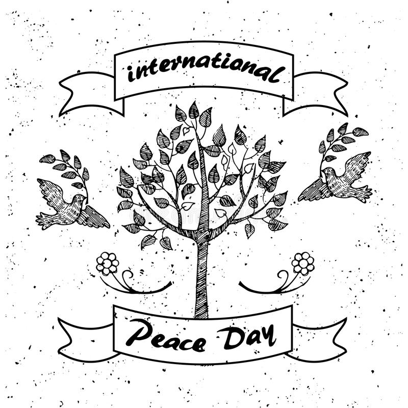Internationale Dag van Vredes Promotieaffiche stock illustratie