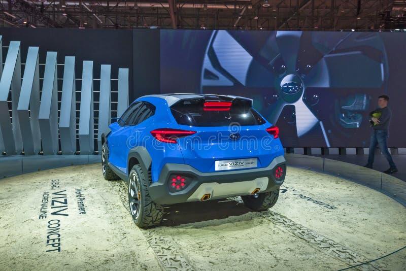 Internationale de Motorshow 2019 van Genève stock foto's