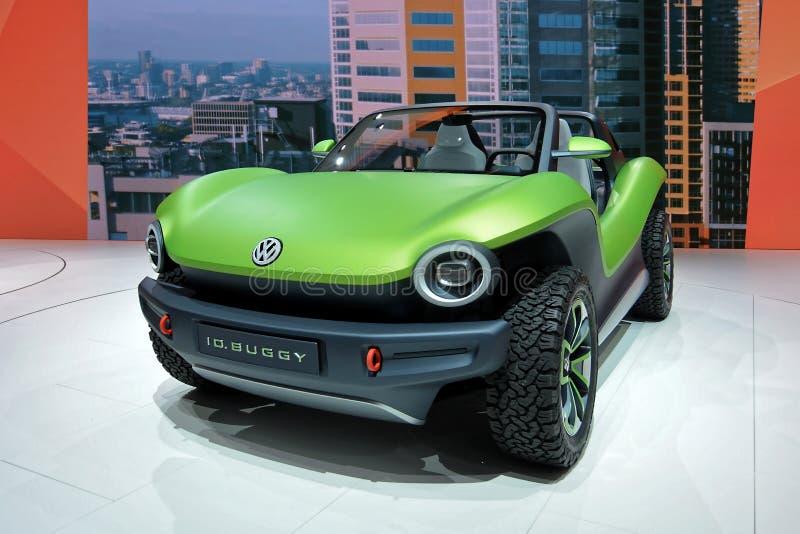 Internationale de Motorshow van 89ste Genève - Volkswagen-het conceptenauto Met fouten van identiteitskaart royalty-vrije stock foto