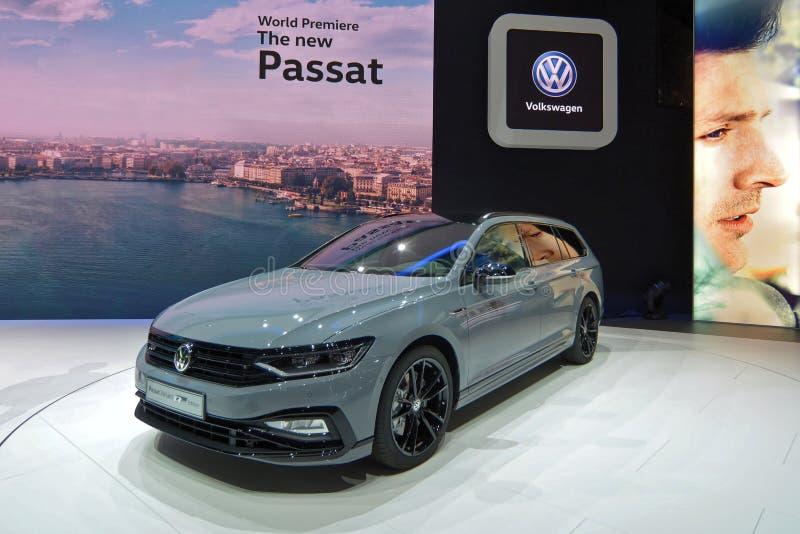 Internationale de Motorshow van 89ste Genève - Volkswagen Passat-Variant royalty-vrije stock afbeelding